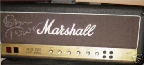 Robin Trower's AUTOGRAPHED Marshall JCM-800 100 watt Tube Amp Head